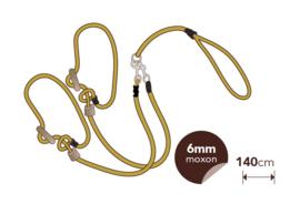 Moxon koppellijn 6 mm ( voor 2 honden)