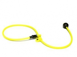 BioThane short leash 6mm - 70cm  - neon geel