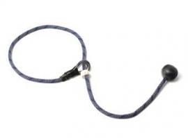 Short leash 6mm - 65 cm blauw/beige