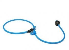 BioThane short leash 6mm - 70cm  - lichtblauw
