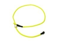Short leash 65 cm neon geel