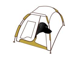 Nieuw!  Dog Blind pop-up