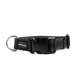 Puppy Starter set halsband + lijn - nylon rubber - zwart