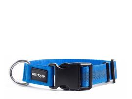 Puppy Starter set halsband + lijn - nylon rubber - blauw