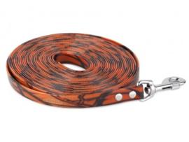 Lange Lijn Biothane 19 mm - 5 m camo oranje