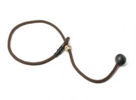 Short leash 6mm - 65 cm bruin