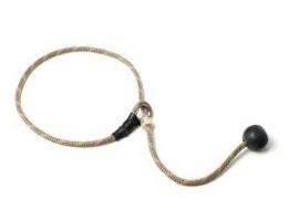 Short leash 6mm - 65 cm beige/blauw