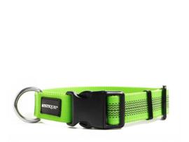 Puppy Starter set halsband + lijn - nylon rubber - neon groen