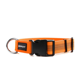 Puppy Starter set halsband + lijn - nylon rubber - neon oranje