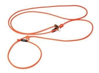 BioThane schouderlijn `Hunting profi silent` 6mm - 280cm neon oranje