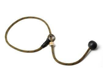 Short leash 6mm - 65 cm khaki/oranje