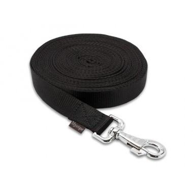Lange lijn nylon 10 m - 25 mm zwart