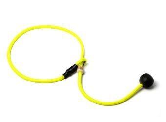 Short leash 6mm - 65 cm neon geel