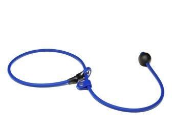 BioThane short leash 6mm - 70cm  - blauw