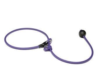 BioThane short leash 6mm - 70cm  - lila