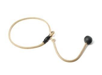 Short leash 6mm - 65 cm beige