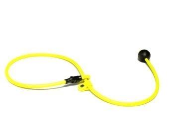 BioThane short leash 6mm - 70cm  - neon geel