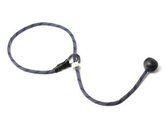 Short leash 6mm - 65 cm blauw/beige