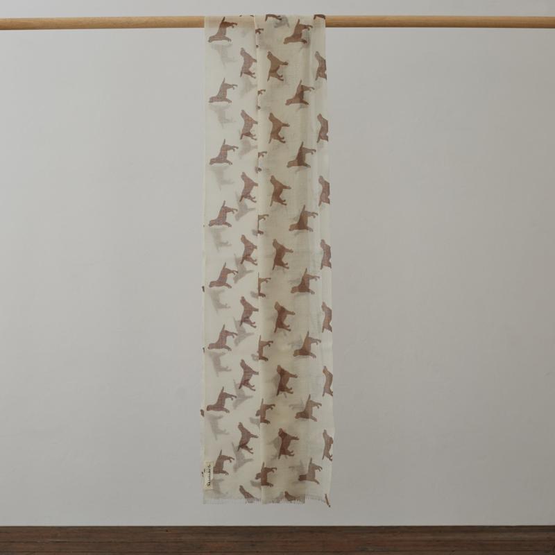 Labrador cashmere sjaal - bruin