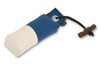 Pocket dummy 150g blauw/wit