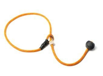 Short leash 6mm - 65 cm oranje/rood
