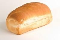 Wit vloer brood gesneden 3 broden