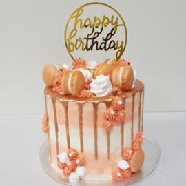 Drip cake zalm roze 10-12 personen