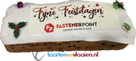 Halve meter rozijnen brood met logo / tekst
