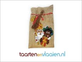 Juten zak Sint & Piet (leeg)