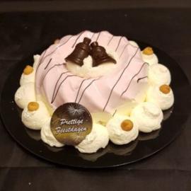 Kerst aardbeien pudding 6/8 personen