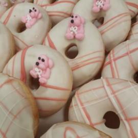 Donut geboorte 2 (à 4 stuks)