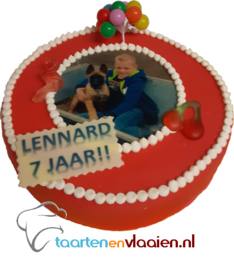 Kinder foto taart 12 personen