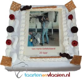 Chipolata taart met foto/logo