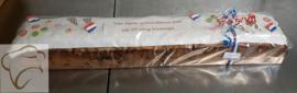 Meter rozijnen brood met logo / tekst