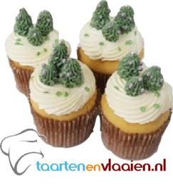 Kerst cupcakes á 4 stuks