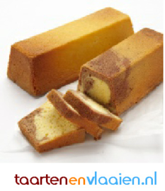 Hotel marmer cake à 15 plakken gesneden