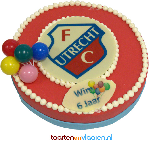 Kindertaart rond FC Utrecht 12 personen