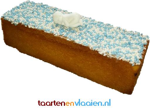 Hotelcake  met blauwe muisjes