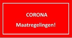 Corona maatregelingen..