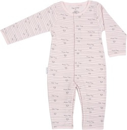 Frogs and Dogs Onesie Roze