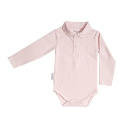 Frogs and Dogs Polo Romper Lange Mouw Roze