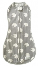 Woombie Original swaddle Grey Hedgehogs