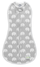 Woombie Original swaddle Grey  Elephants