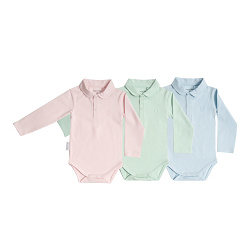 Frogs and Dogs Polo Romper Lange Mouw Blauw