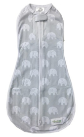 Woombie Air swaddle Elephants
