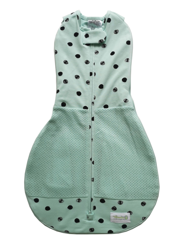 Swaddle Woombie Grow With Me Air Mint Black Dots 0-18 months