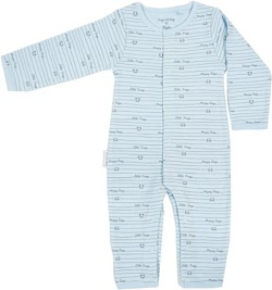 Frogs and Dogs Onesie Blauw