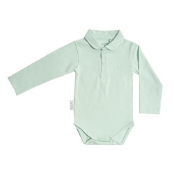 Frogs and Dogs Polo Romper Lange Mouw Mint