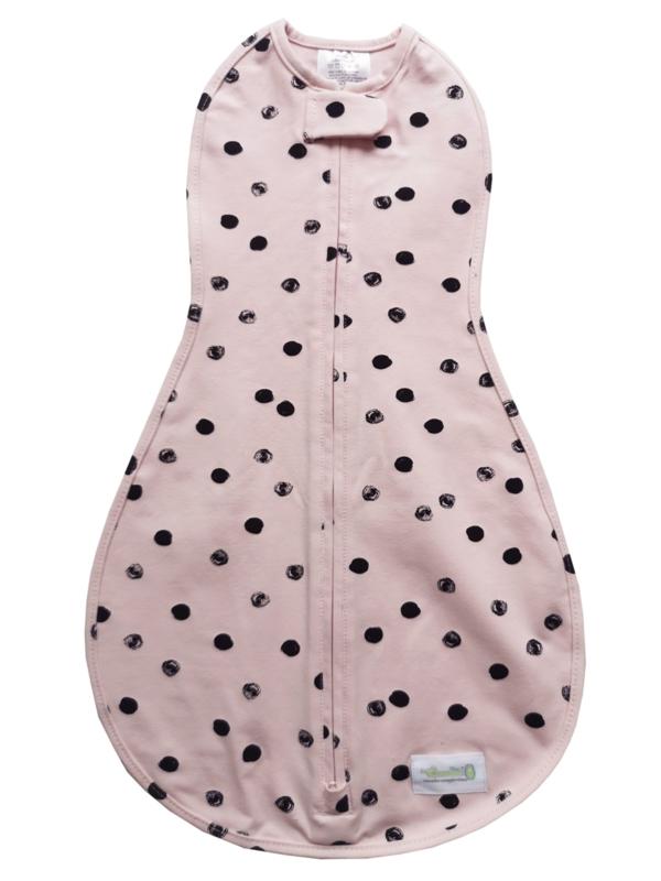 Swaddle Woombie Original Pink Black Dots 0-3 months