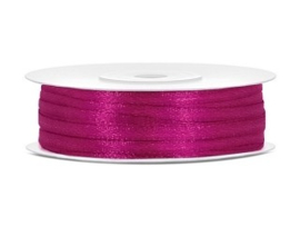 Satijn Lint 3 mm, Fuchsia